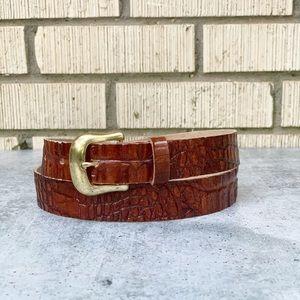 Vintage Alligator Skin Brown Belt